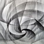 Giacomo Balla - Vortice, Linea di velocità, matita su carta