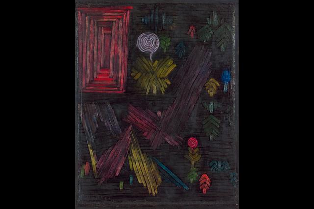 Paul Klee - Porta nel giardino (Gate in the Garden), 1926. Olio su cartone