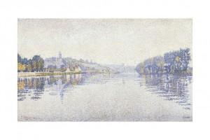 Paul Signac River's edge the Seine at Herblay