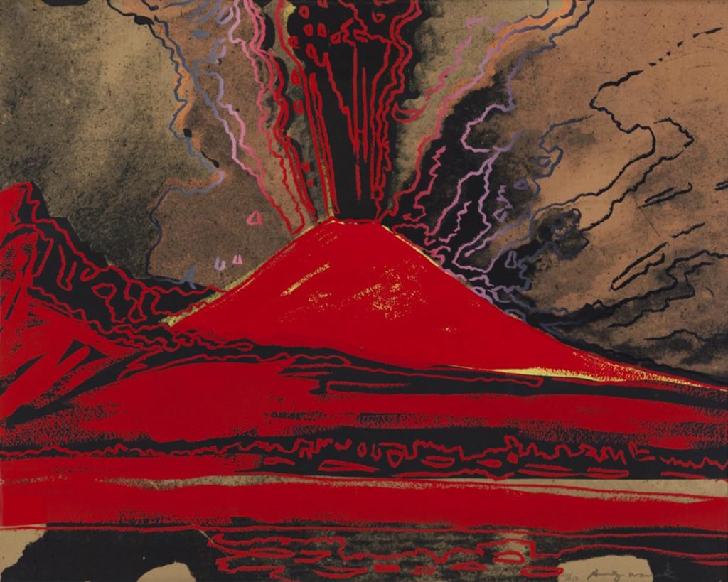 Andy Warhol, Vesuvius, 1985, serigrafia su Arches 88, 80x100 cm