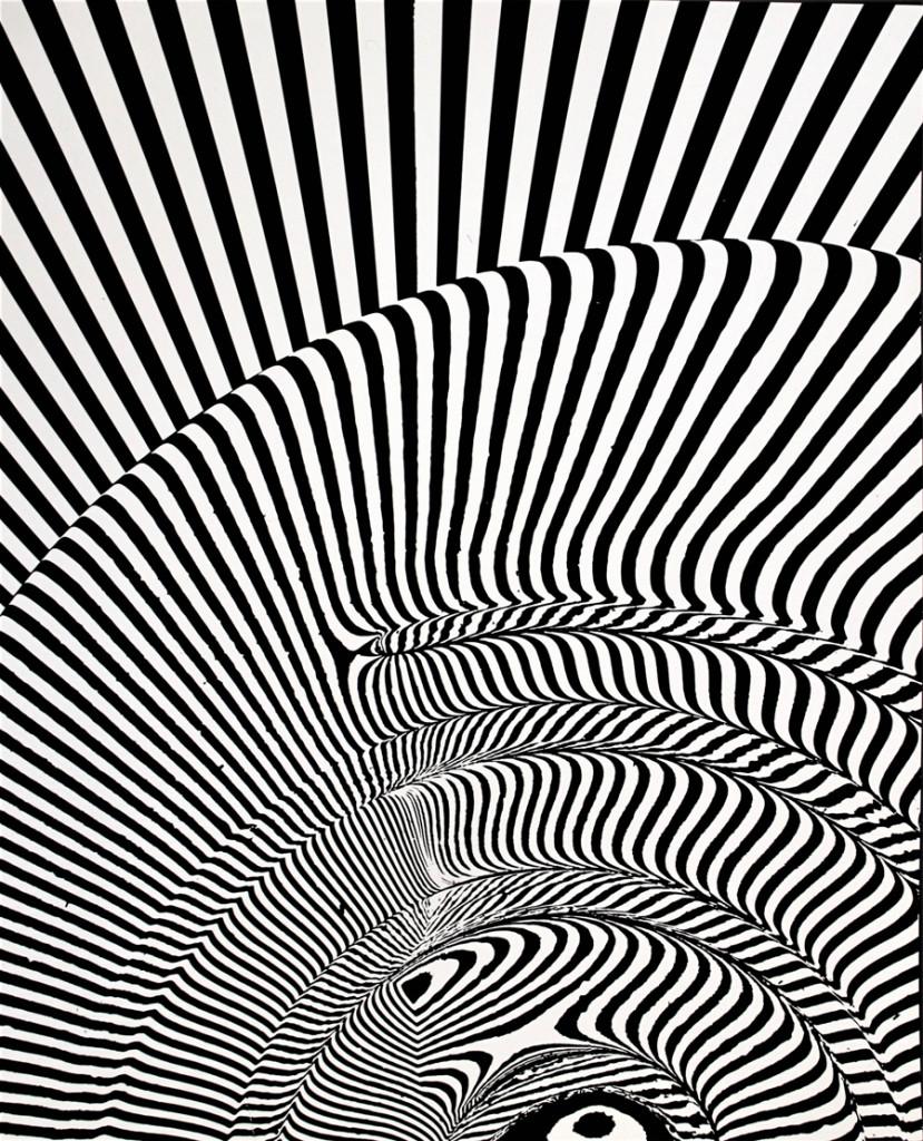 FRANCO GRIGNANI, Induzione, 1963, sperimentale ottico ai sali di bromuro d'argento, 29,7x24,2 cm