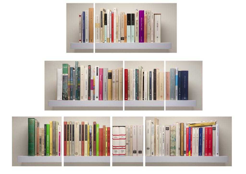 Galleria SpazioFarini6_Giulio Cerocchi_Il silenzio della parola il rumore della carta_ combinazione#3_unione di 9 opere