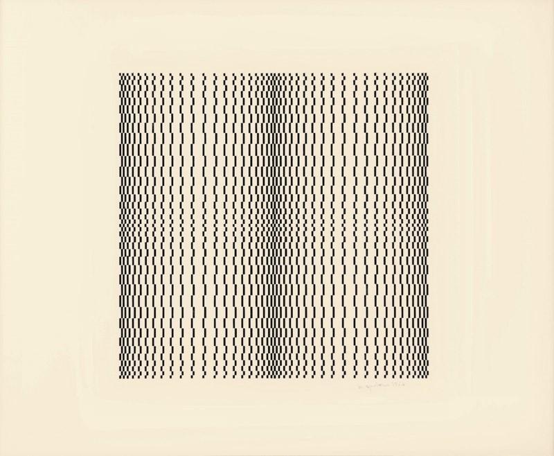 MARINA APOLLONIO, Struttura grafica, 1964, china su carta, 48x66 cm