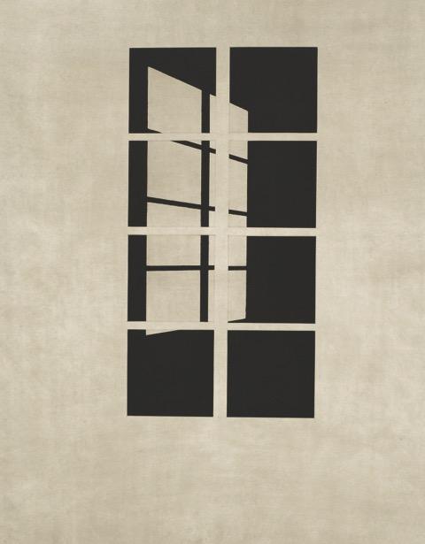 Markus Raetz Tag oder Nacht, 1998 color aquatint, 9 plates image cm 58,8 x 29,8, paper cm 91,7 x 80,2 ed. 20/33 Courtesy Galleria Monica De Cardenas, Milano/Zuoz/Lugano