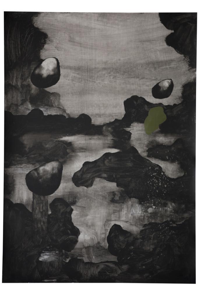 Pangea, Mirko Baricchi, tecnica mista su carta,50x70 cm 2017