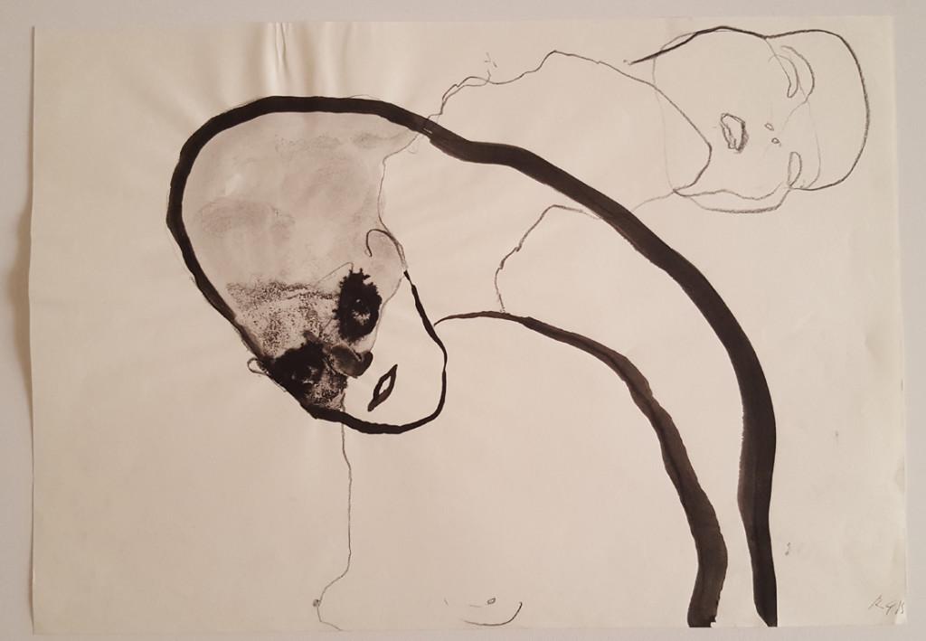 Riccardo Garolla TITOLO, ANNO Untitled, 2016 TECNICA mixed media on paper DIMENSIONI 42 x 30 cm COURTESY Five Gallery