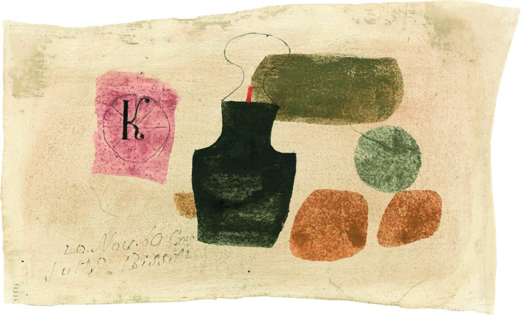 uliusBissier (1893-1965)100/AB K 20.Nov.60 Cres, 1960 Eioeltempera auf selbstgrundierter Baumwolle 13,4 x 22,7 cm